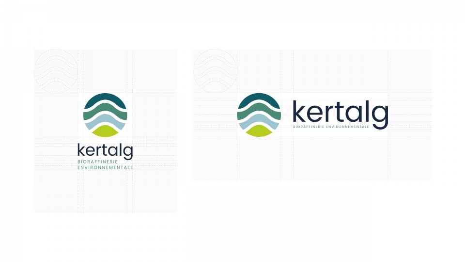 Kertalg - bioraffinerie environnementale - Construction du logo